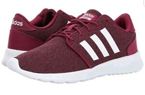 92d7f9f50842c NEW BC0006 WOMEN 9.5 ADIDAS NEO CF QT RACER SHOES 9 1 2 white ruby ...
