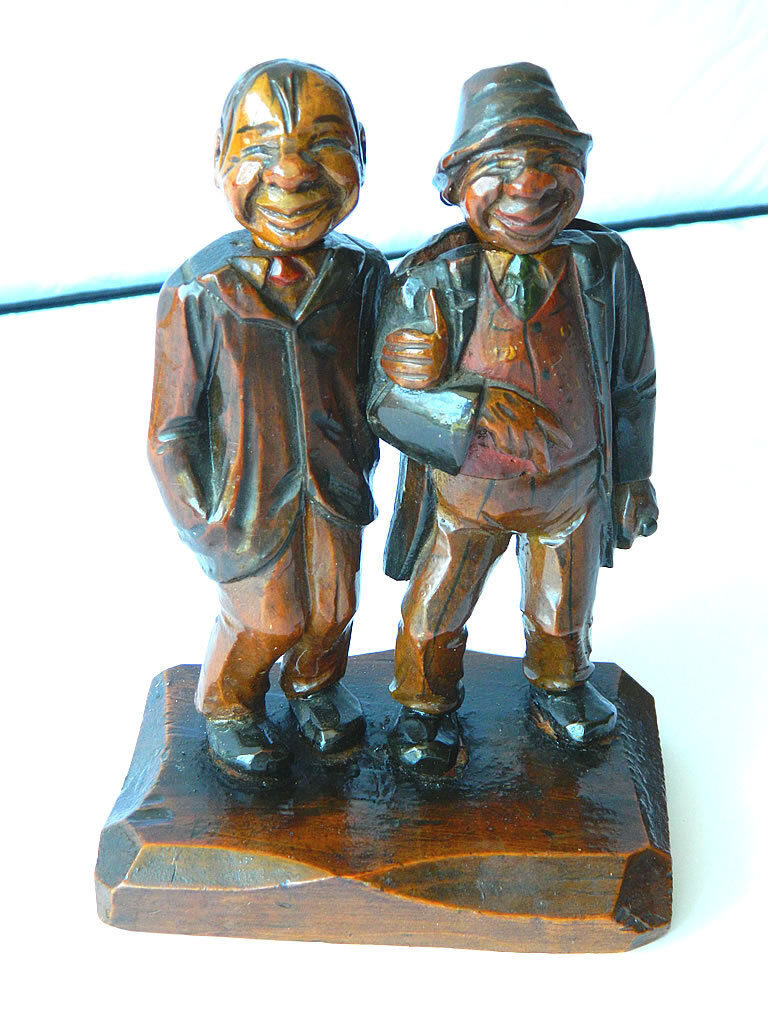 Vintage Anri sculpture beer & Wine Opener figurine  ivre amis  Barware decor