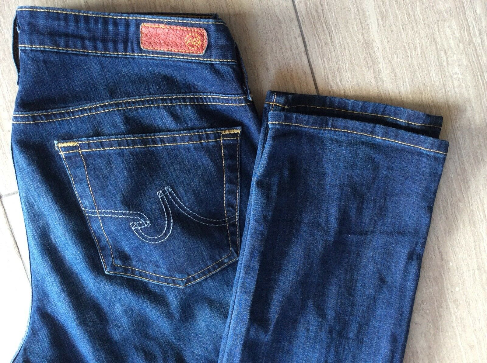 AG Adriano goldschmied Womens bluee Jeans Sz 27 Stevie Slim Straight