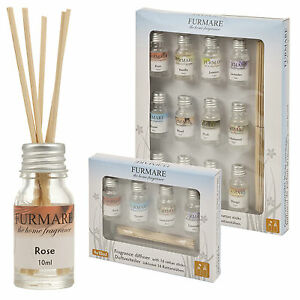 4-or-12-Assorted-10ml-Oil-Fragrances-With-Diffuser-Reed-Sticks-Aromatic-Gift-Set