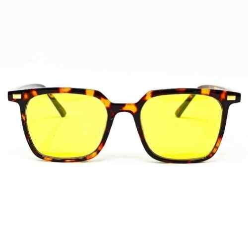 Occhiali da sole colore havana con lenti giallo Pif wear B-class 15