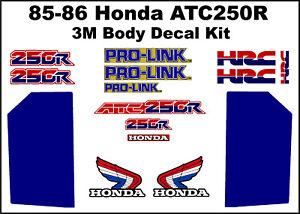 Decal Kit for a 85-86 Honda ATC 250r 3-wheeler    ATC250r ATC 250r BIG SALE