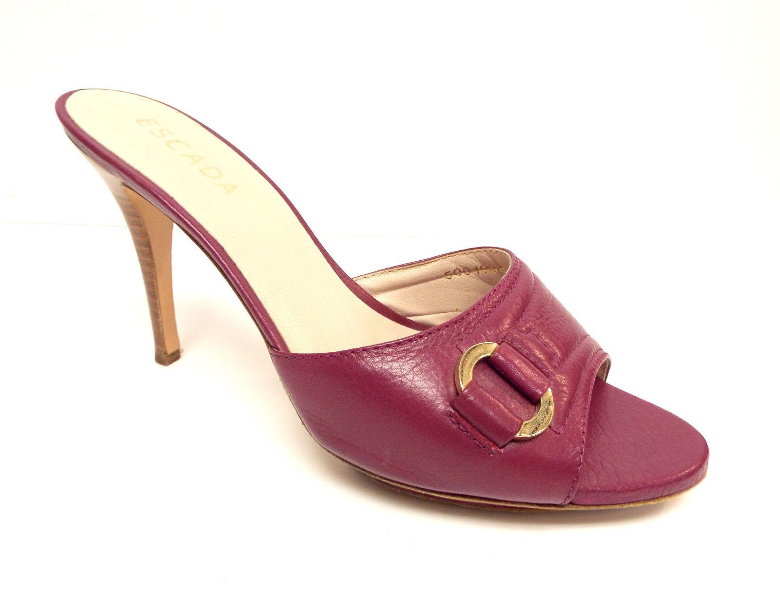 ordinare on-line ESCADA ESCADA ESCADA Dimensione 8.5 Fuchsia rosa Leather Slide Heels Sandals scarpe 39  consegna gratuita