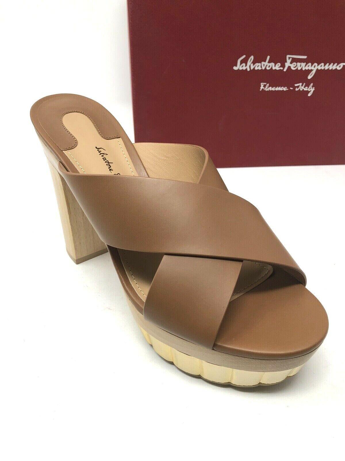 625 Nouveau Salvatore FERRAGAMO pour pour pour femme Marron Sandales Plateforme Chaussures Femme Taille 6.5 f04d39