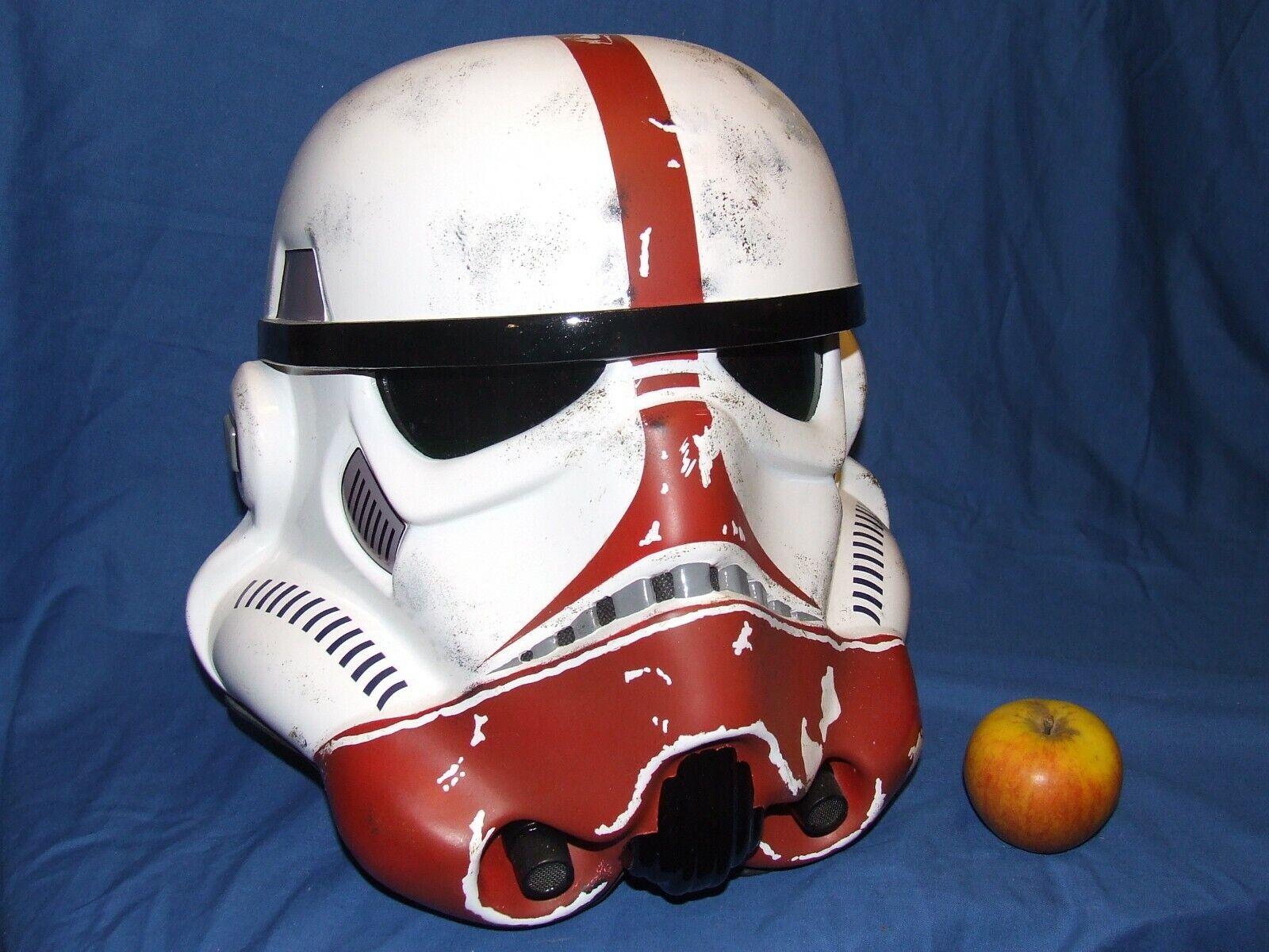 Star Wars fibre de verre Stormtrooper Incinerator Trooper Helmet Full Taille + rembourrage