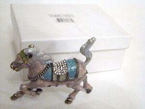 Jeweled-Trinket-Hinged-Box-Carousel-Horse