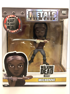 The-Walking-Dead-Michonne-4-Inch-Moulage-sous-Pression-Figurine-Jada-97935-Neuf