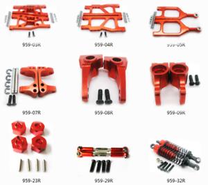 Aluminum Upgrade parts For 1:12 WLtoys L969 L979 L202 L212 L222 K959 L959 Rc Red