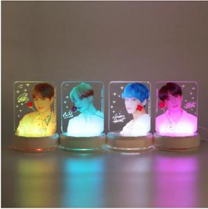 Color Changing KPOP BTS Bangtan Boys LED Plastic Acrylic Lightstick Night Light