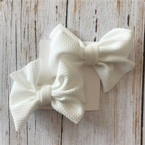 2PCS//Set Kids Baby Girls Hair Bows Boutique Hair Ribbon Alligator Clip Hairpins