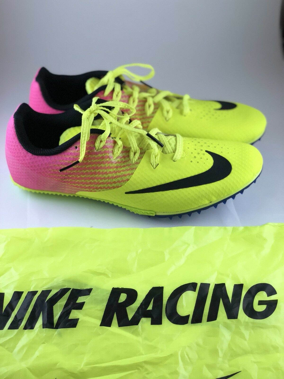 Nike Zoom Rival S Track Running Spikes Volt Pink Men's (Size 9.5) 806554-999