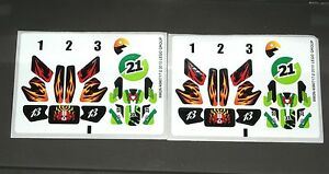 LEGO-2-Motorcycle-STICKER-Sheets-Skull-Racing-DECALS-8896-Snake-Canyon-NEW
