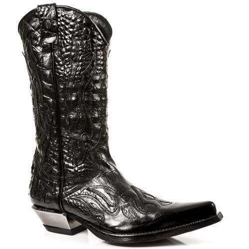 Stivali Ragazzo NR Cowboy Stivaletto Uomo PELLE Tejano NEW ROCK Cowboy NR Western leather f8e8c5