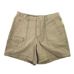 Columbia-Womens-Beige-Brown-Hiking-Casual-Camping-Shorts-Size-10-Inseam-5