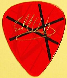 van halen 2004 concert tour guitar pick evh frankenstrat red white black stripes ebay. Black Bedroom Furniture Sets. Home Design Ideas