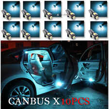 10PCS CANBUS ERROR FREE ICE BLUE T10 5050 LED Interior Light Bulbs W5W 194 168