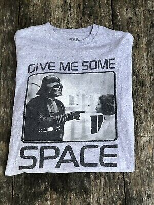 Star Wars Give Me Some Space Darth Vader Princess Leia Funny Movie T shirt S-2XL