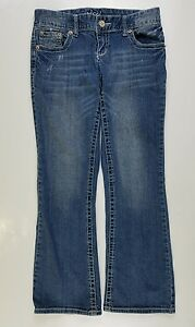 Women-039-s-MAURICES-Distressed-Original-Jeans-cropped-Capri-pants-Size-3-4-30-27