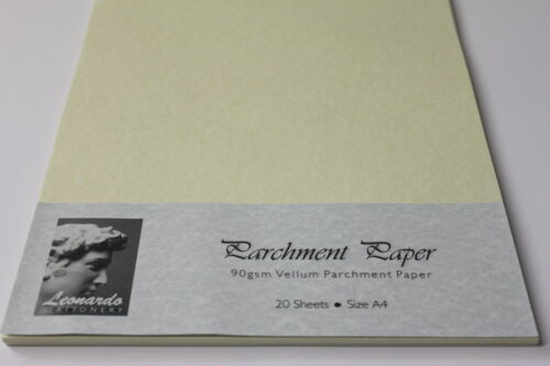 /'CUT TO YOUR OWN SPECIFICATION/' HIGH QUALITY 90gsm AGED VELLUM PARCHMENT PAPER.