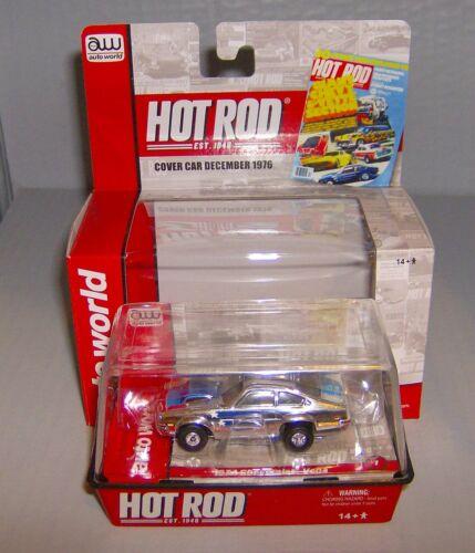 """/""""NEW/"""" HOT ROD 1974  CHROME CHEVROLET VEGA T JET 500HO SLOT CAR BY AW"""