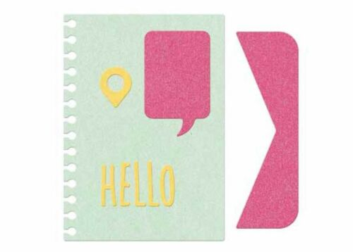 DC0506 HELLO ~ 5 Dies Lifestyle Crafts QuicKutz Die Set  POCKET SCRAP DIES
