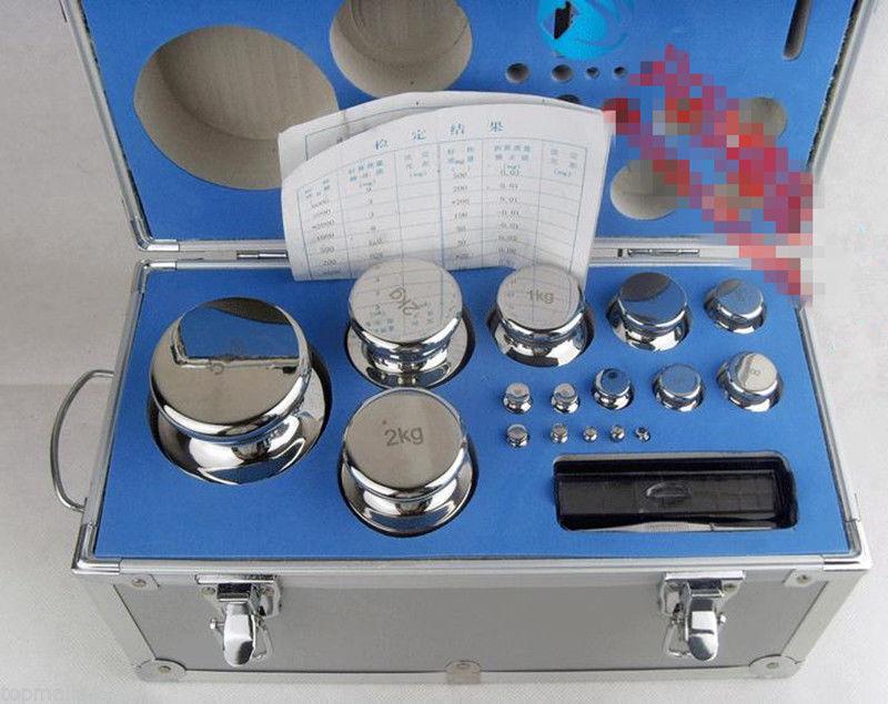 F1 Grade 28 piezas 1mg-5kg 304 Acero Inoxidable Digital Escala calibración pesos T
