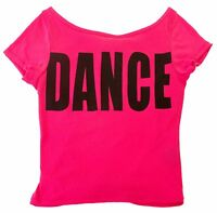 Hot Pink & Black Hip Hop dance Open Back T-shirt- Child Sizes S, M, L