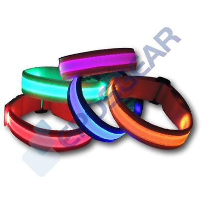 Flashing LED Reflective Road Safety Armband Joggers Runners Dog Walkers Cycling