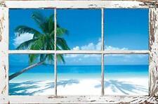 TROPICAL BEACH POSTER 24x36 OCEAN SCENIC PALM TREES 4888 LIFEGUARD HUT