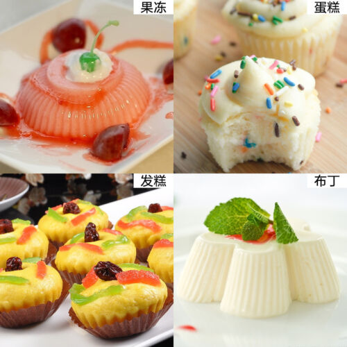 12pc Soft Silicone Round Cake Muffin Chocolate Cupcake Liner Baking Cup Mould LY