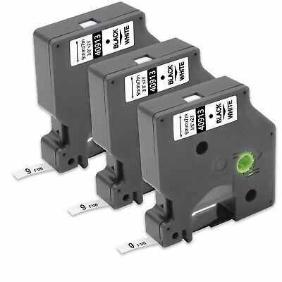 Ausdauernd 3x Schwarz Auf Weiß 9mm Beschriftungsbänd Für Dymo D1 40913 Labelmanager 450