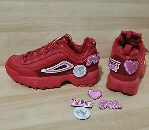 FILA DISRUPTOR II Valentines Day Red