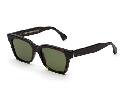 Competente Occhiali Super By Retrosuperfuture America 3627 Green Sunglasses New