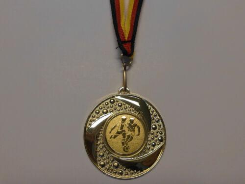 Fußball Ball Pokal Kinder 100 x Medaillen mit Band&Emblem Turnier Pokale (e219)