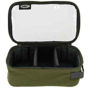 Bleitasche-Accessory-Bag-Lead-Bag-mit-Sichtfenster-3-Unterteilungen-fuer-Tackle