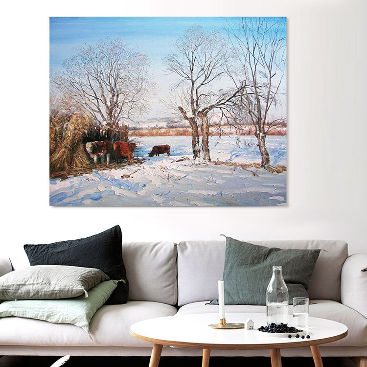 3D Snow Painting 72 Wall Stickers Vinyl Murals Wall Print Deco AJSTORE UK