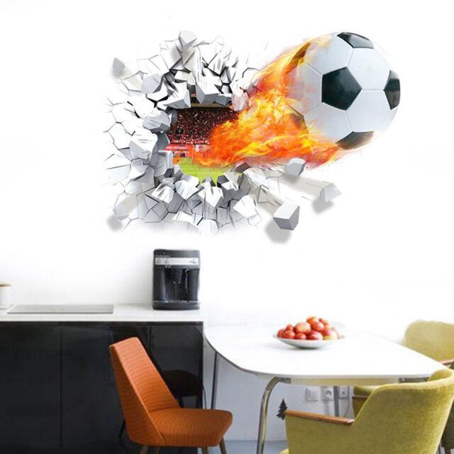 Soccer Ball Football Wall Sticker Decal Mural Kids Bedroom Home Room Decor