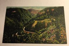 Post Card Oak Creek Canyon en-route Flagstaff to Prescott Arizona Linen Unsent
