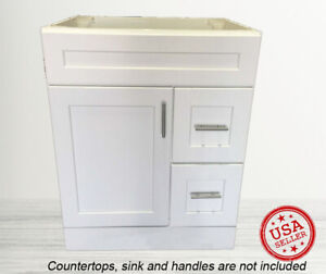 Details About Bathroom Vanity Cabinet Drawer White Shaker Single Sink 30 W X 21 D