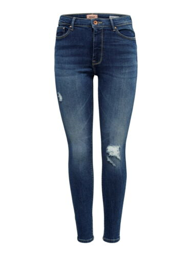 ONLY Pantalon Femmes Highwaist un jean skinny onlpaola Medium Blue Denim ME STRETCH