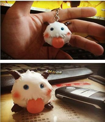 Cute Game League of Legends LOL sheep poro doll toys figure keychain keyring