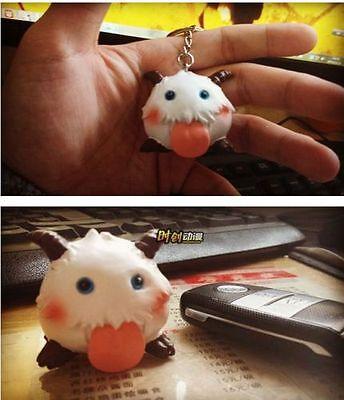 Cute Game League of Legends LOL sheep poro doll toys figure keychain keyring