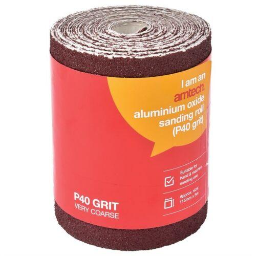 5m  RED ALUMINIUM OXIDE SANDING ROLL GRIT 40 60 80 120 SANDPAPER SAND WOODWORK