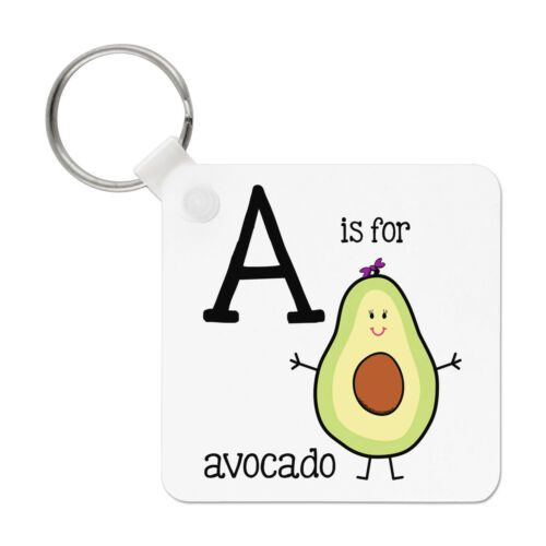 Letter A Is For Avocado Keyring Key Chain Alphabet Cute Funny