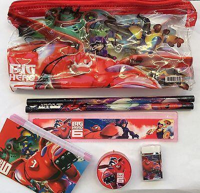 7 x  Big Hero 6 Six Baymax Stationary Pencil Case Set For Kids Child School