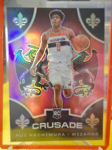Rui-Hachimura-2019-20-Panini-Chronicles-Pink-Crusade-Prizm-RC-521-Wizards