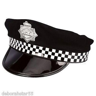 Policeman Hat Mens Policeman Fancy Dress Hat Panda Hat Policeman Costume HAT