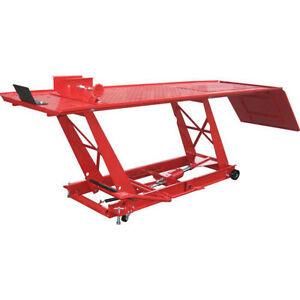 Motorcycle Lift Atv Rv Bike Jack Workshop Table 1000 Lb 1 2 Ton