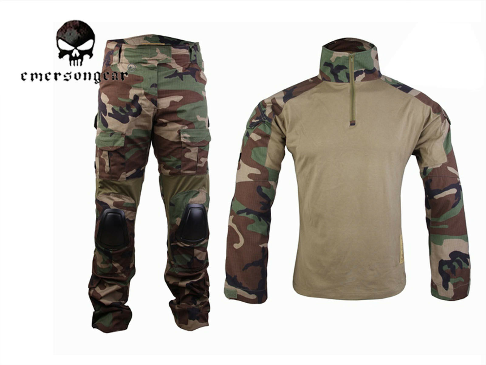 EMERSON Gen2  Cype Style Combat Uniform Tactical Hunting BDU Woodland  novelty items