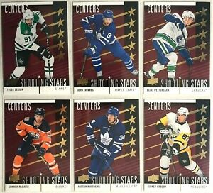 2019-20-Upper-Deck-Red-Shooting-Stars-Centers-Complete-Set-1-10-Mcdavid-Crosby
